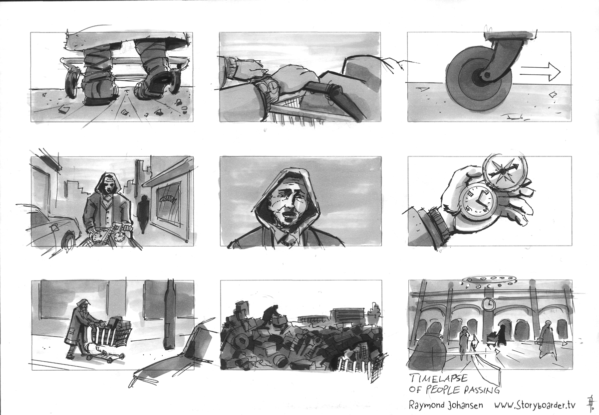 Nico & Vinz (Envy) storyboard from the Norwegian storyboard artist Raymond Johansen for the 'In your arms' music video directed by the Oslo / Norway based director Kavar Singh