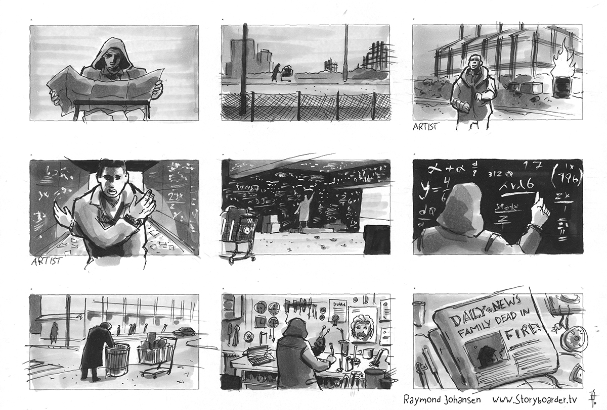 NIco & Vinz 'In your Arms' storyboard from the music video.