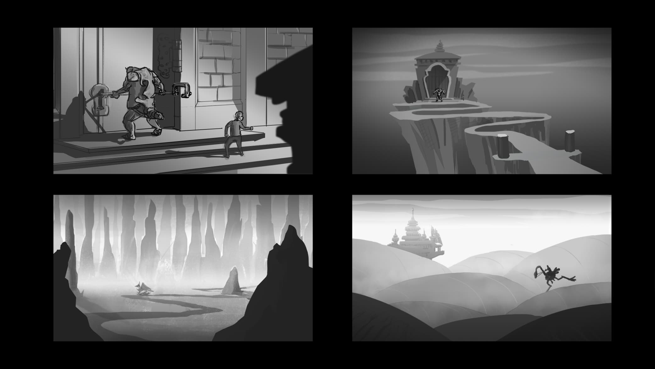 Keyart thumbs for storyboard