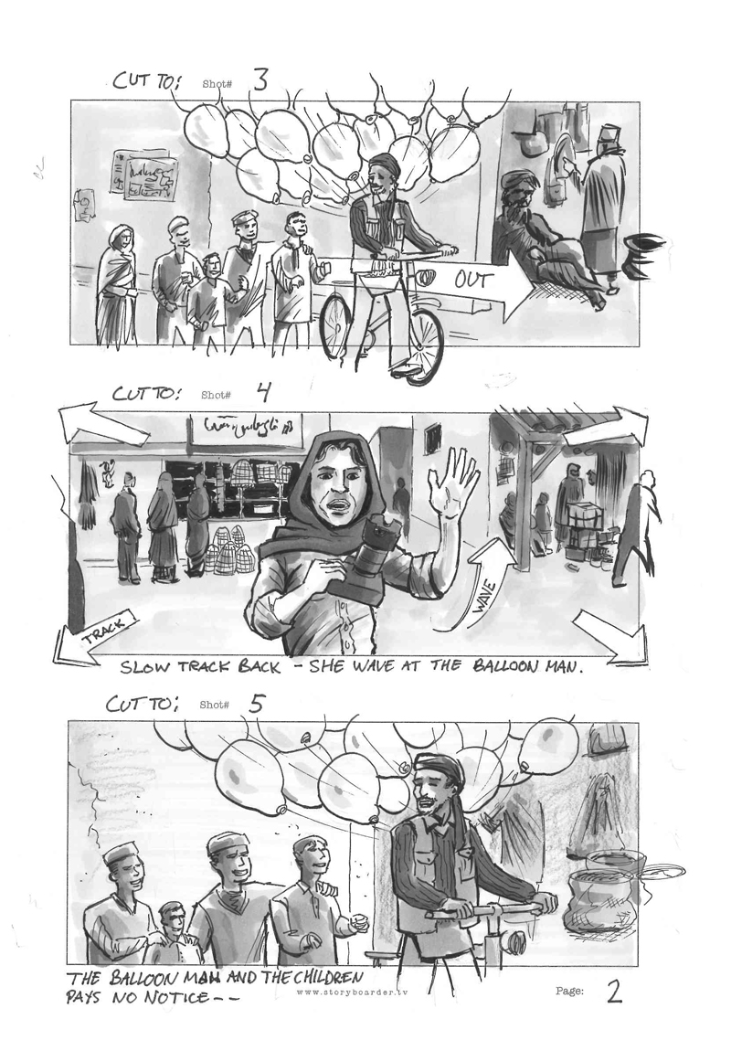 Eurovision song contest storyboard